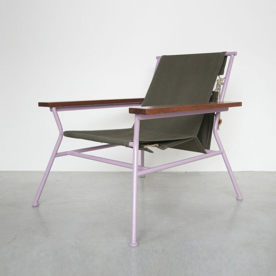 Canvas Lounge Chair Image 1