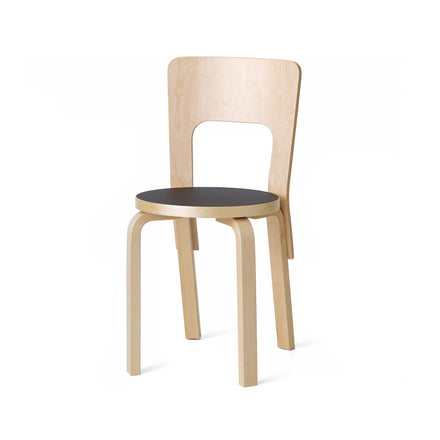 Chair 66 in Natural with Black Linoleum