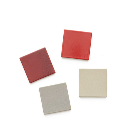 Classic Red Tile Coasters (Set of 4)