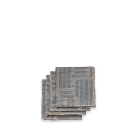 Maze Cocktail Napkins in Grey (Set of 4)