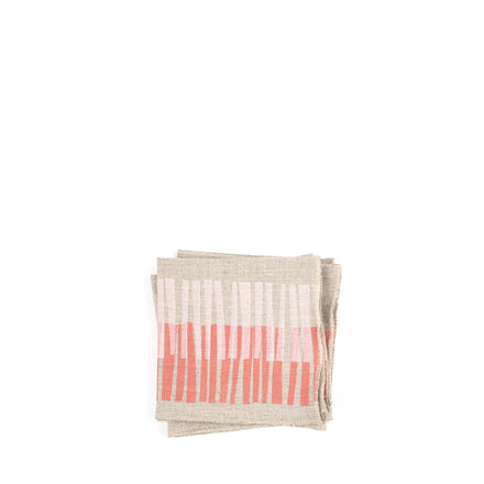 Linen Cocktail Napkins in Twigs (Set of 4)