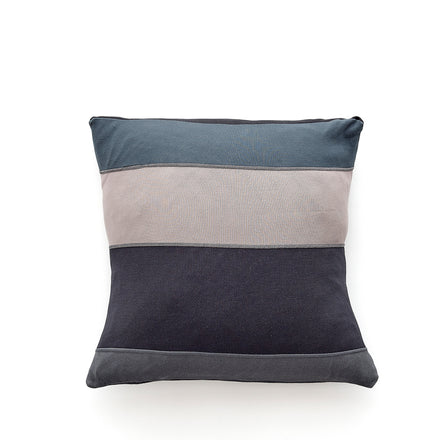 Color Block Pillow in Black Twilight