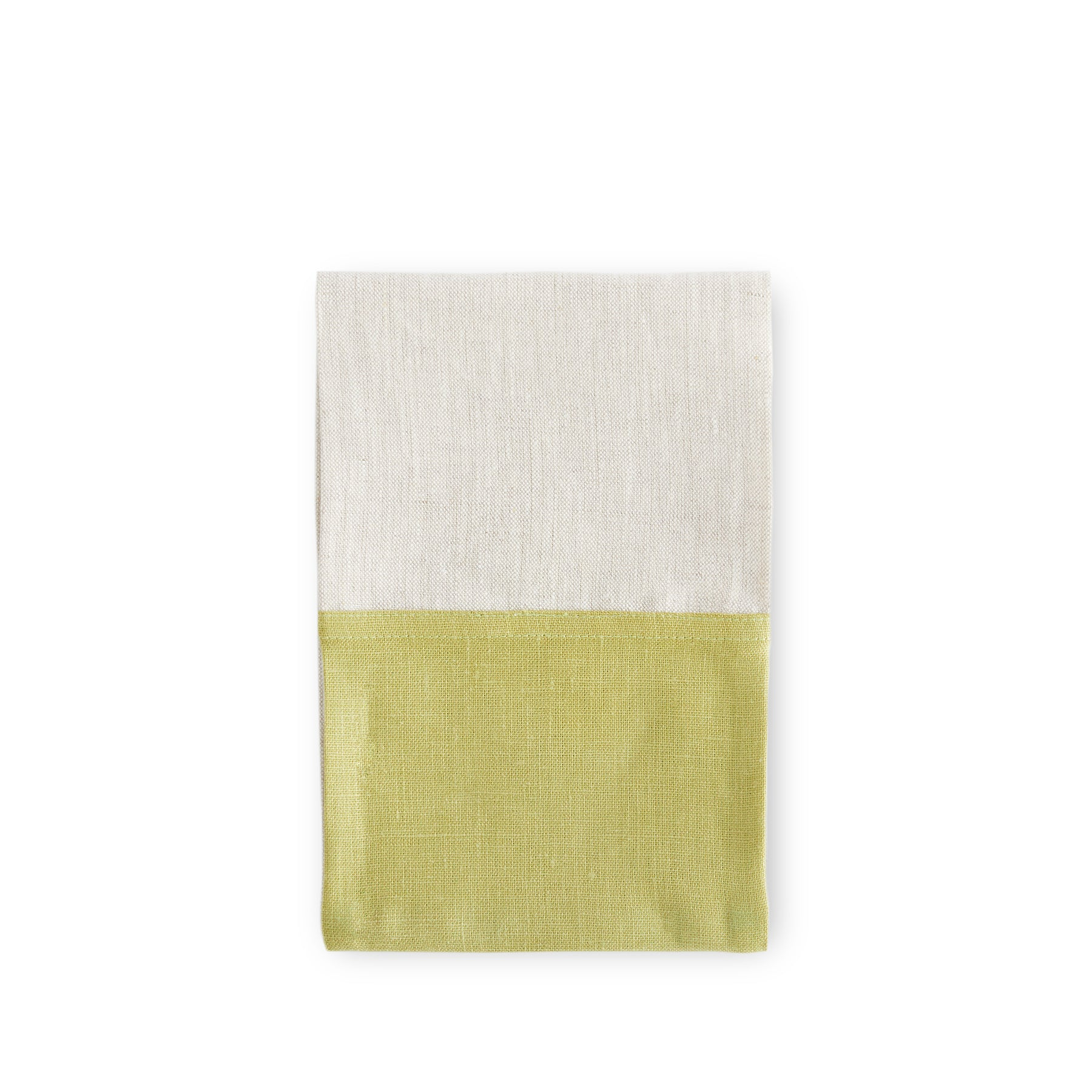 Color Block Tea Towel in Fern and Oatmeal Zoom Image 1