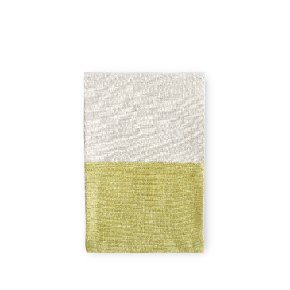 Color Block Tea Towel in Fern and Oatmeal Image 1