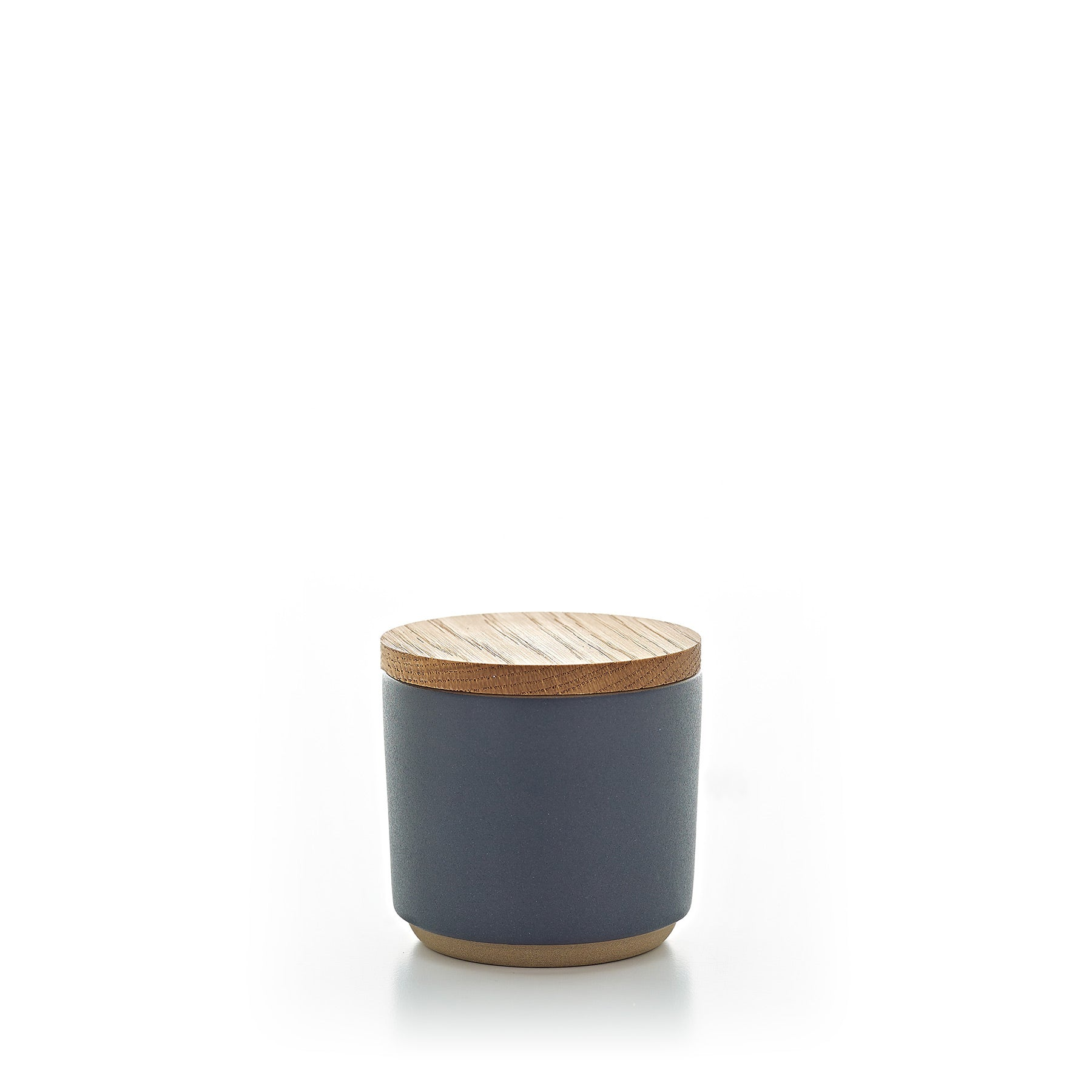 Container with Wooden Lid - Indigo