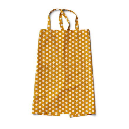 Cotton Linen Dot Apron in Mustard