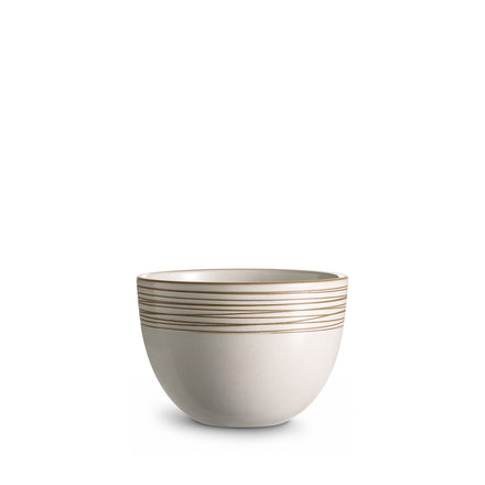 Bird's Nest Etched Deep Serving Bowl in Opaque White