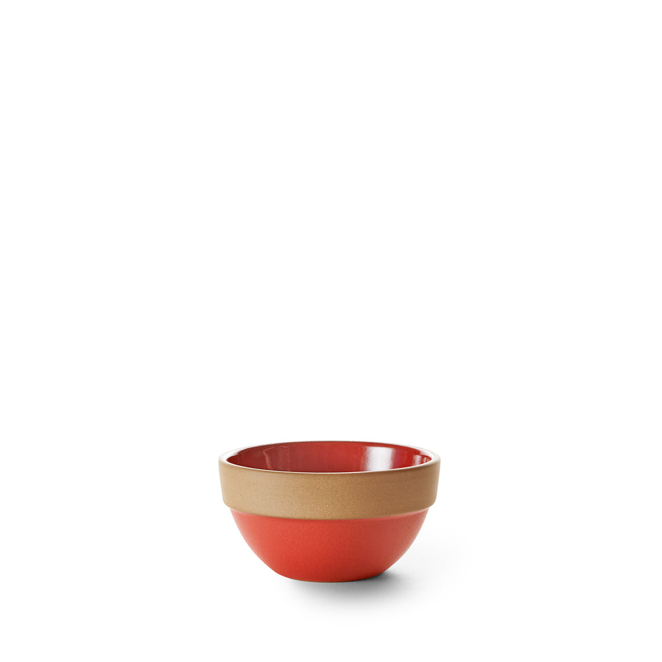 Rim Dessert Bowl in Ruby Red/Suede Red Image 1