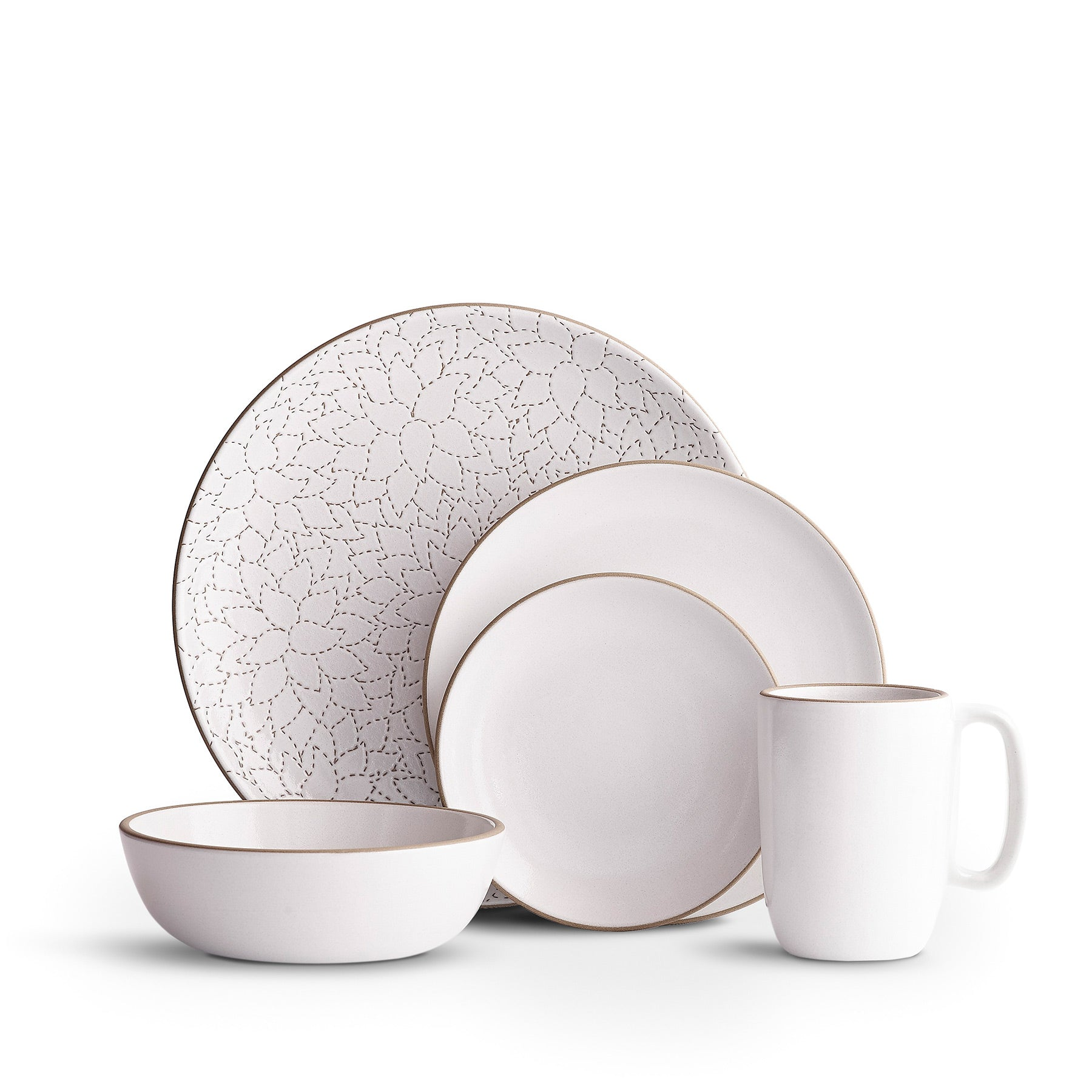 Camellia Opaque White Dinnerware Set Zoom Image 1