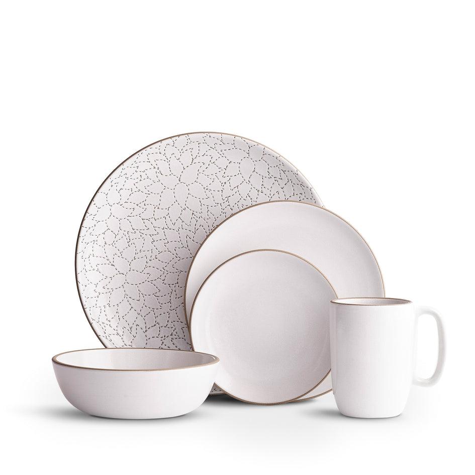 Camellia Opaque White Dinnerware Set Image 1