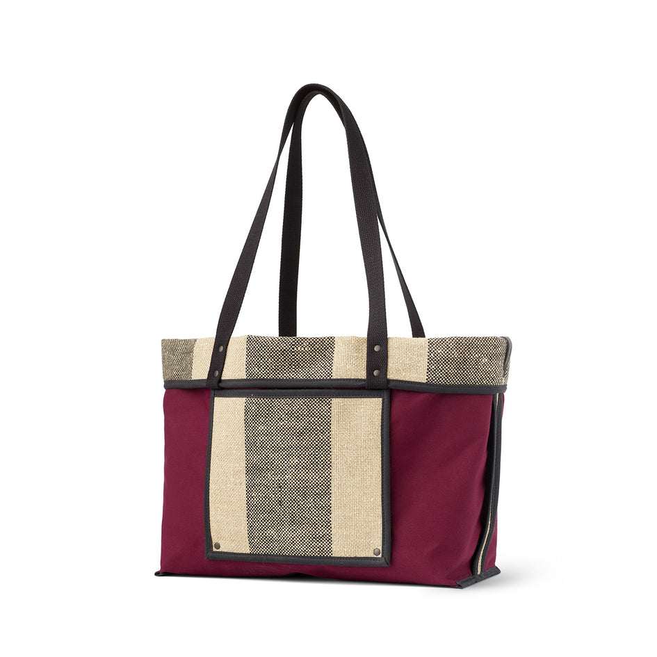 Linen Large Reversible Tote in Pluot Image 1