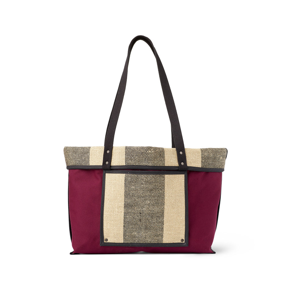 Linen Large Reversible Tote in Pluot Image 3
