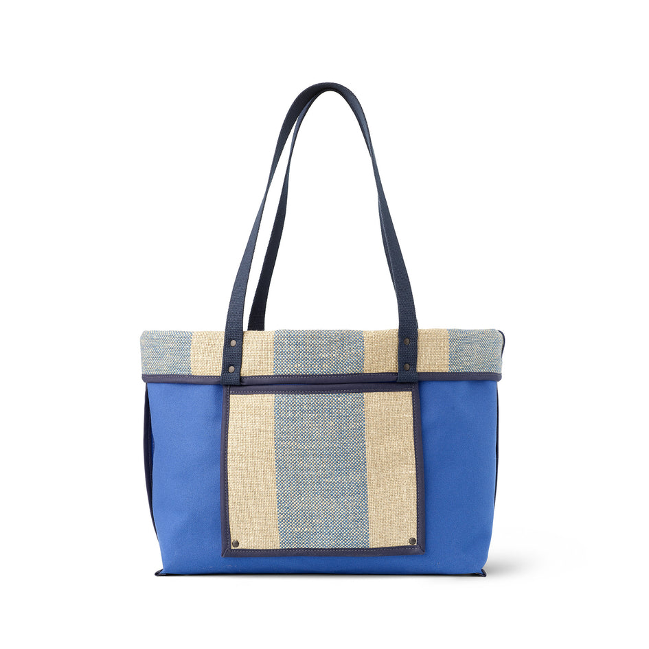Linen Large Reversible Tote in Marine Zoom Image 3