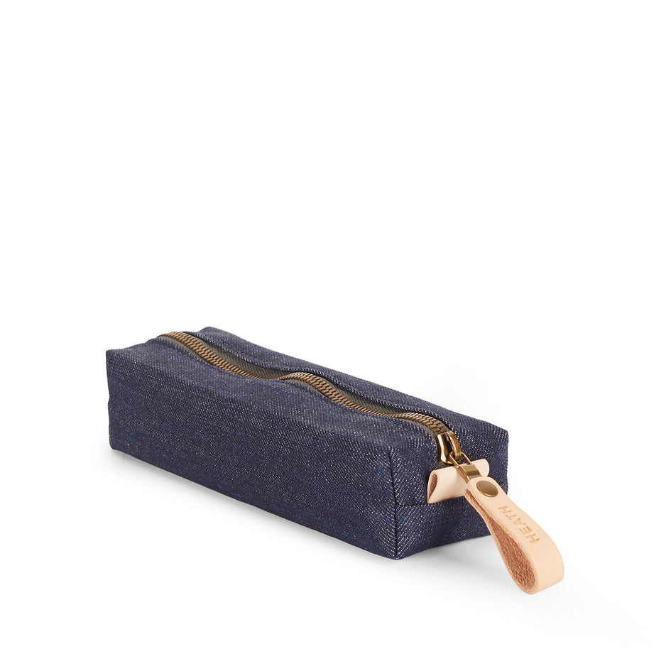 Flat Block Pouch in Denim Image 1