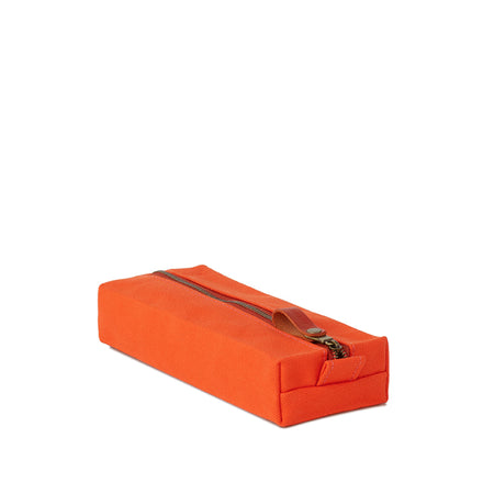 Flat Block Pouch in Heath Orange
