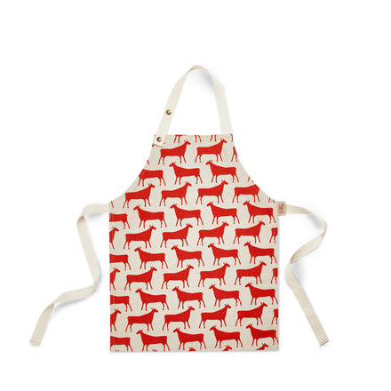 Herds Kids Apron in Red