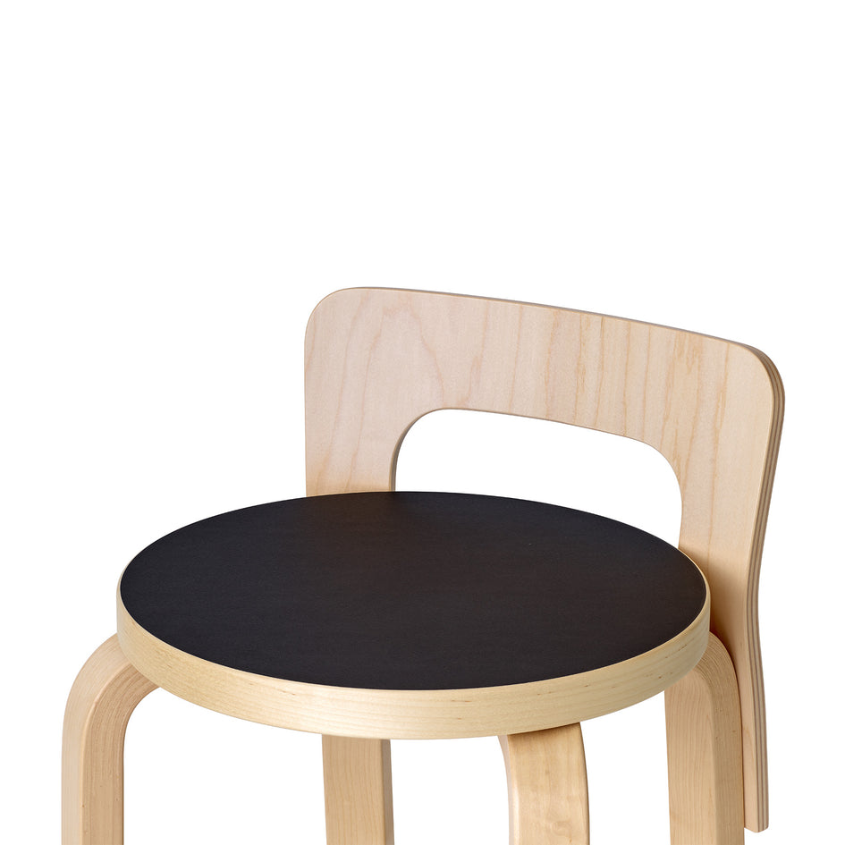 High Chair K65 in Natural and Black Linoleum Image 2