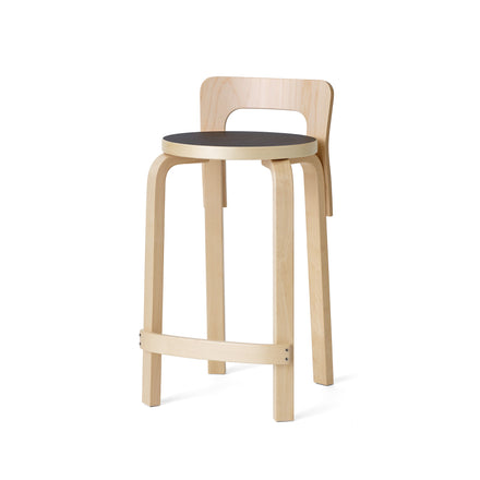 High Chair K65 in Natural and Black Linoleum