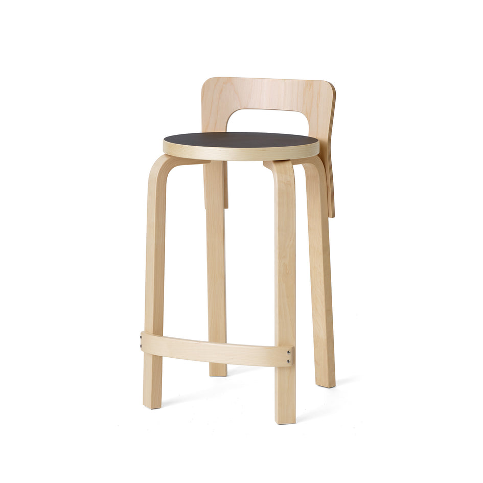 High Chair K65 in Natural and Black Linoleum Image 1