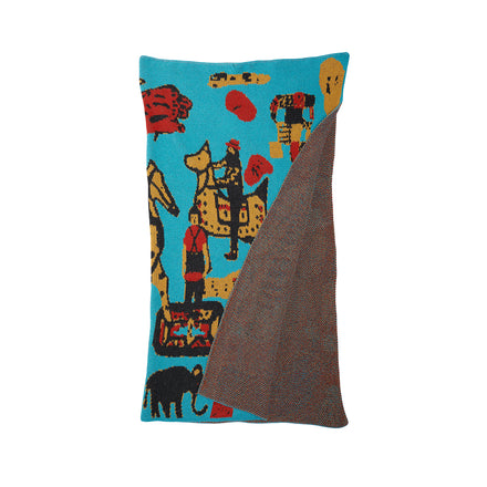 Kids Cowboy Blanket in Turquoise