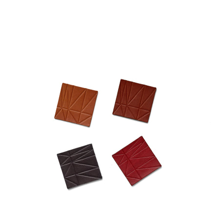 Strike Leather Coasters in Assorted (Set of 4)