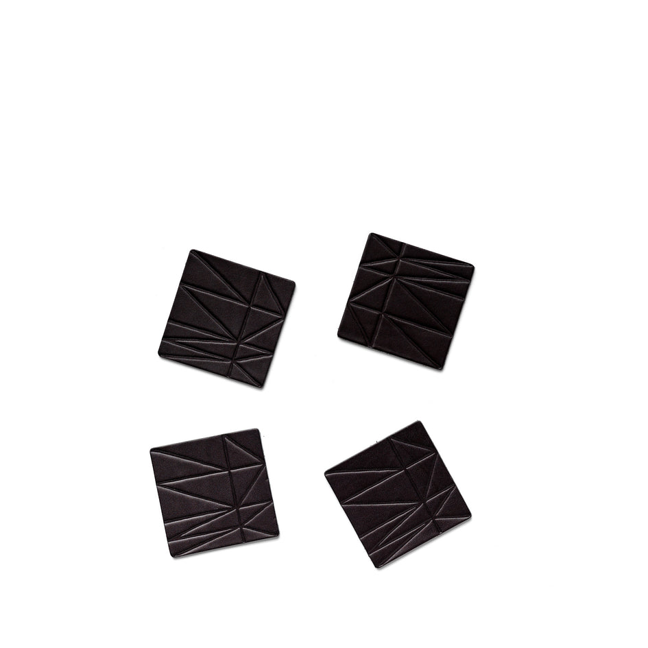 Strike Leather Coasters in Black (Set of 4) Image 1