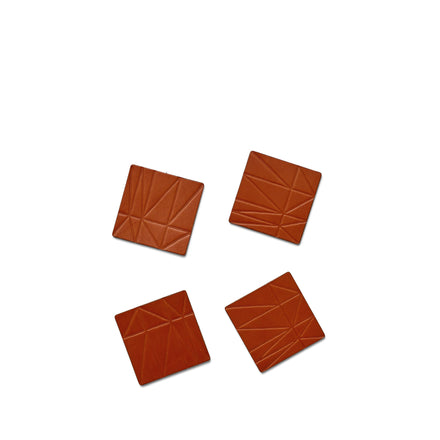 Strike Leather Coasters in Brown (Set of 4)