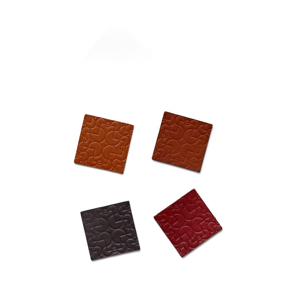 Arcade Leather Coasters in Assorted (Set of 4) Image 1