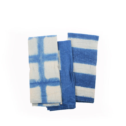 Hemp Shibori Tea Towels