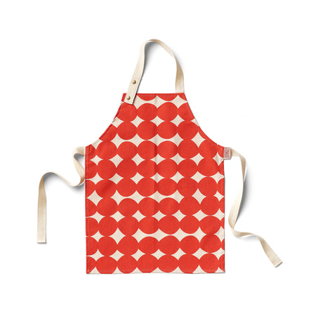 Pebble Kids Apron in Tomato
