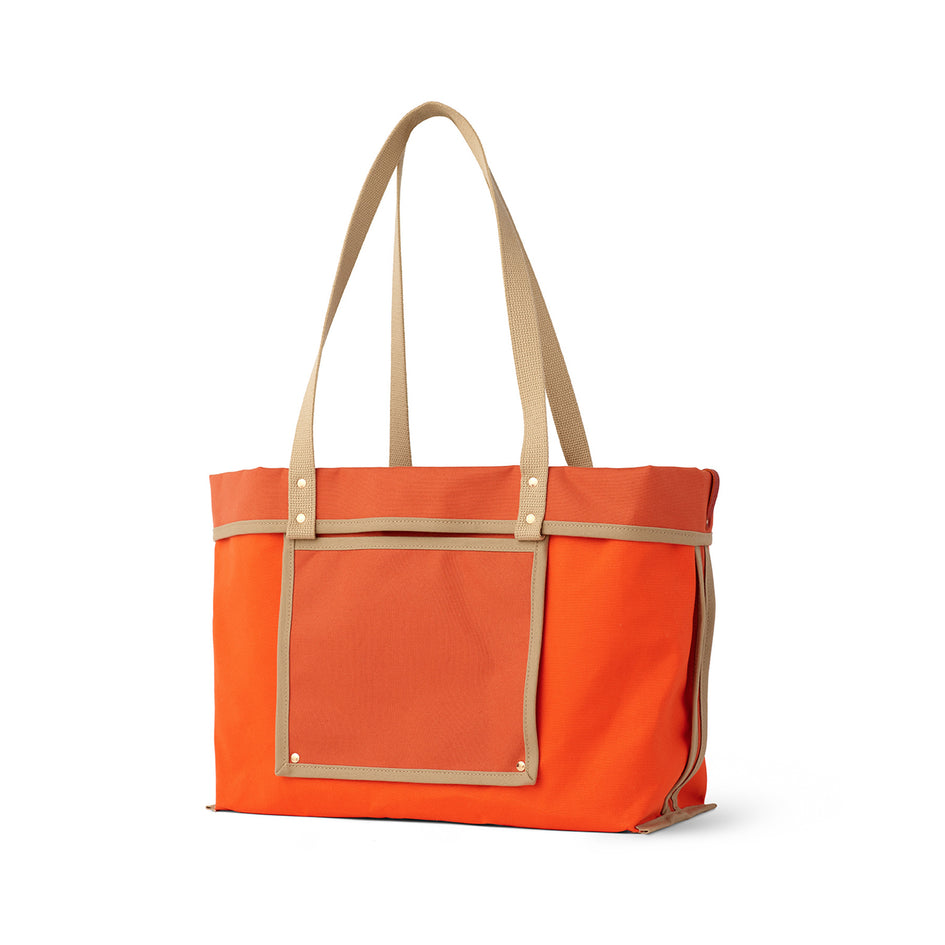 Large Reversible Tote in Campari Image 1