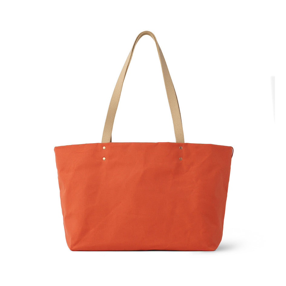 Large Reversible Tote in Campari Image 3