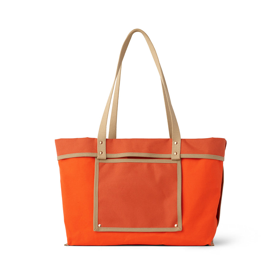 Large Reversible Tote in Campari Image 4