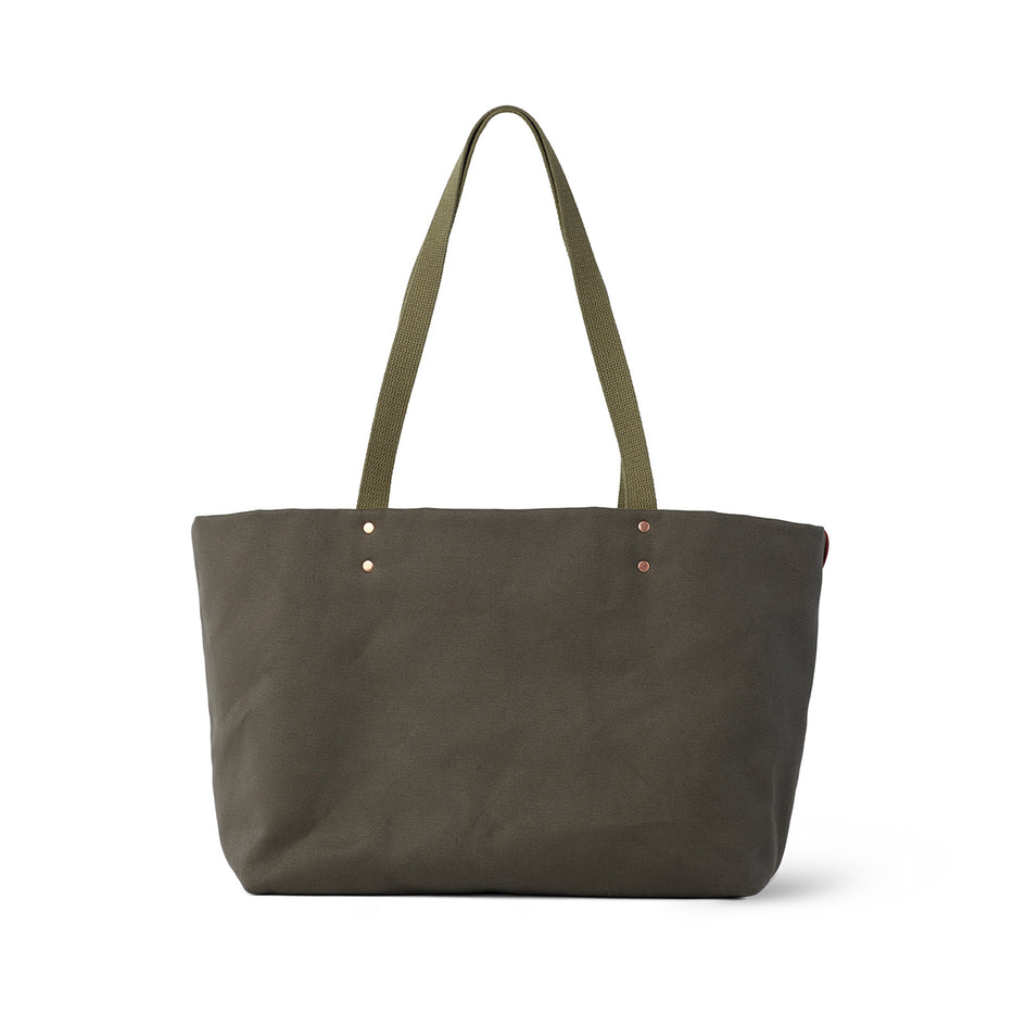 Large Reversible Tote in Meadow Green Zoom Image 3