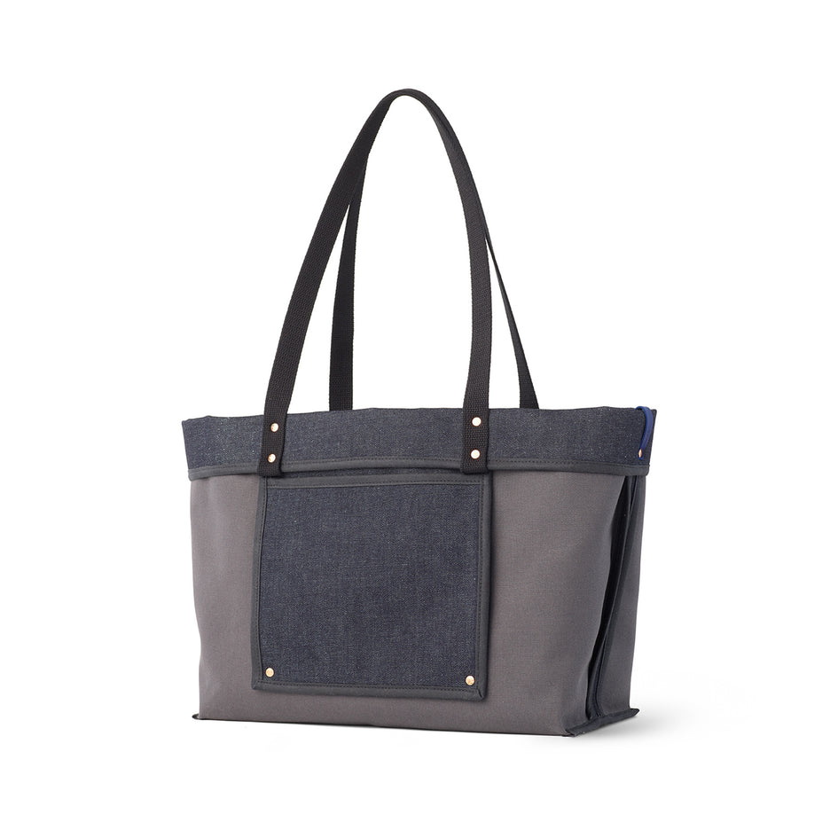 Large Reversible Tote in Slate Image 1