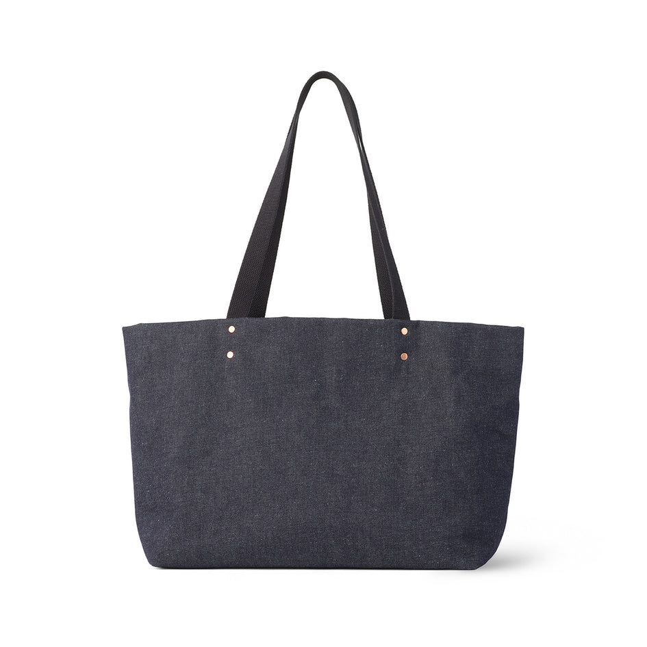 Large Reversible Tote in Slate Image 3
