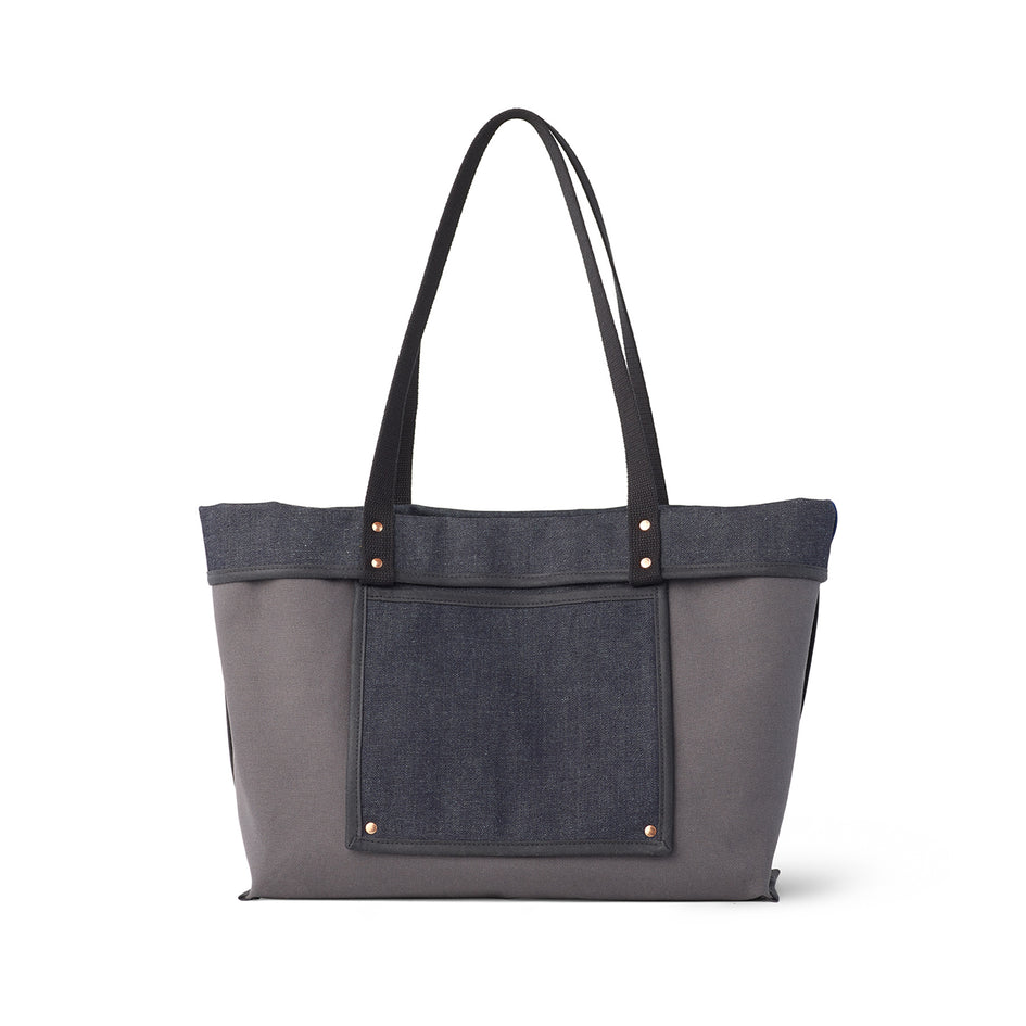 Large Reversible Tote in Slate Image 4