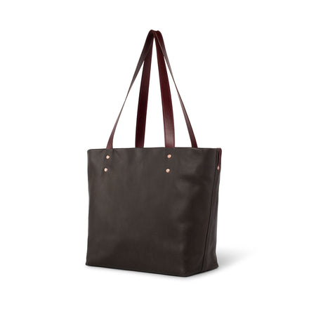 Leather Tote in Kelp