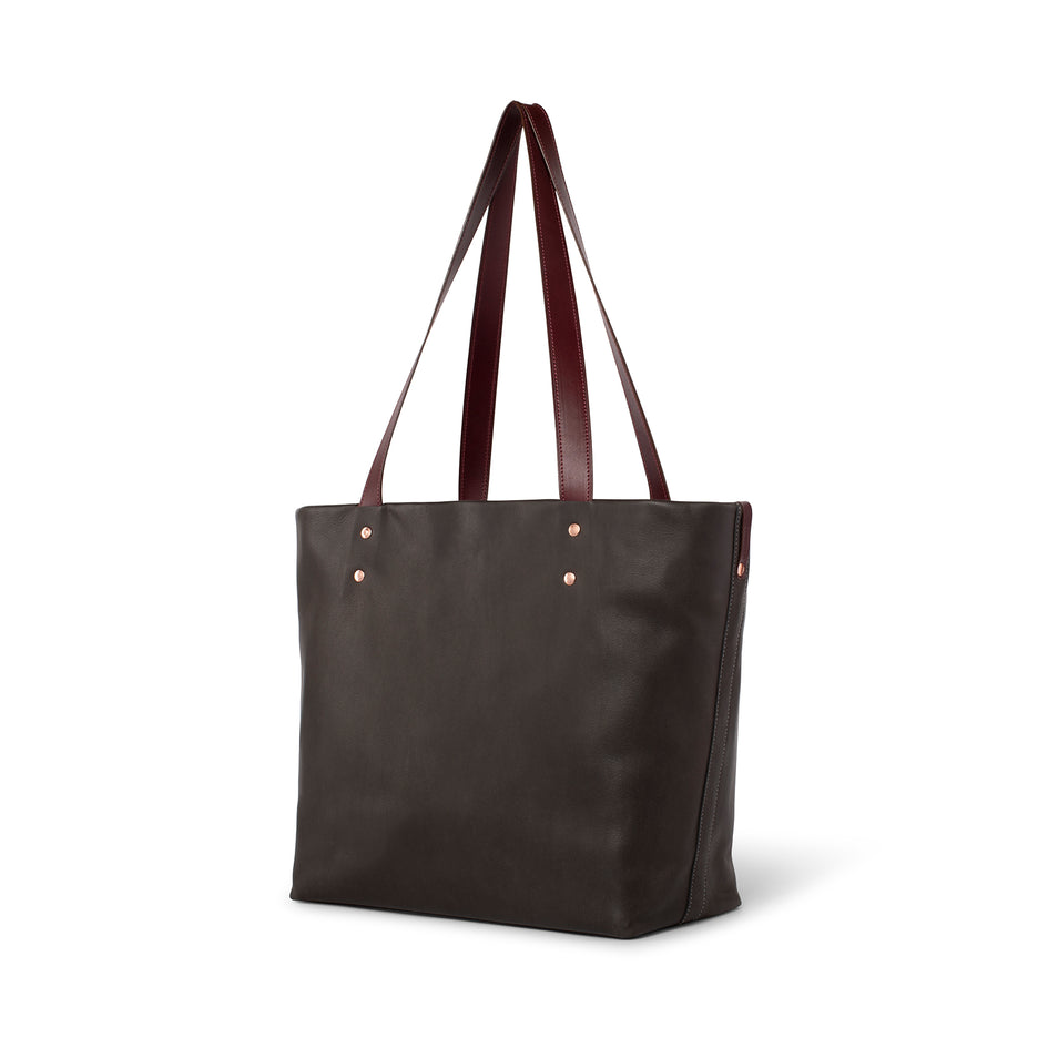 Leather Tote in Kelp Image 1
