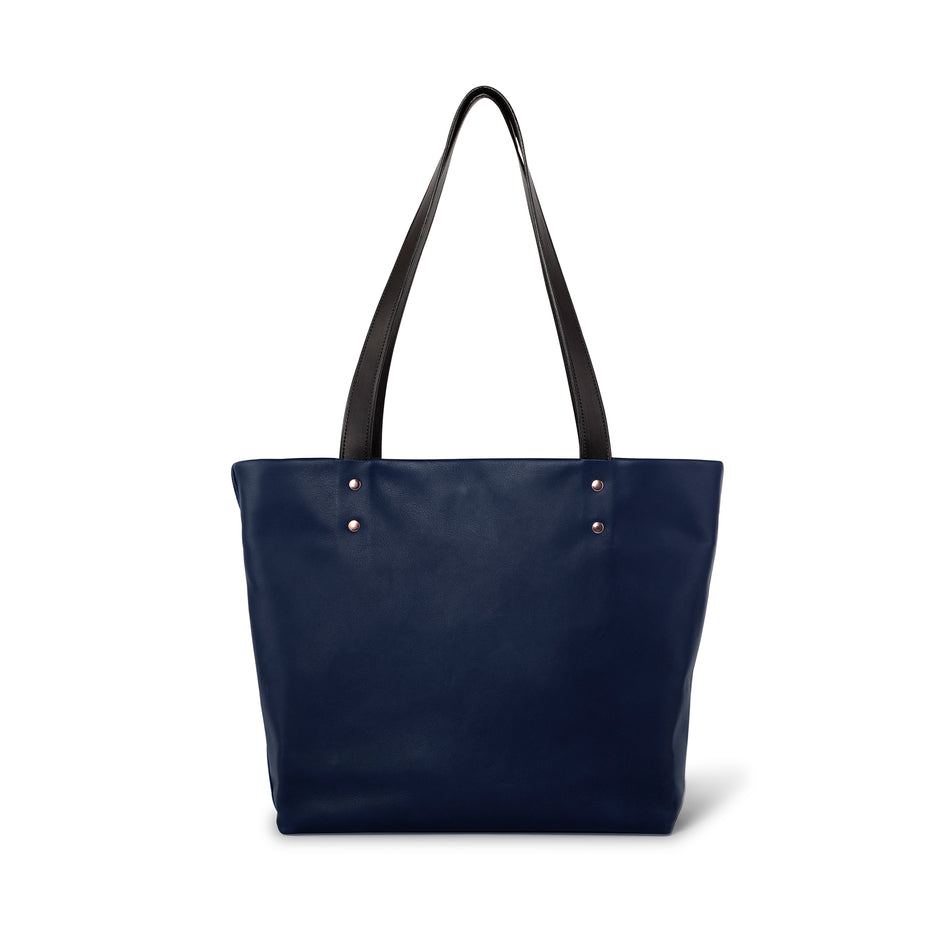 Leather Tote in Midnight Image 2