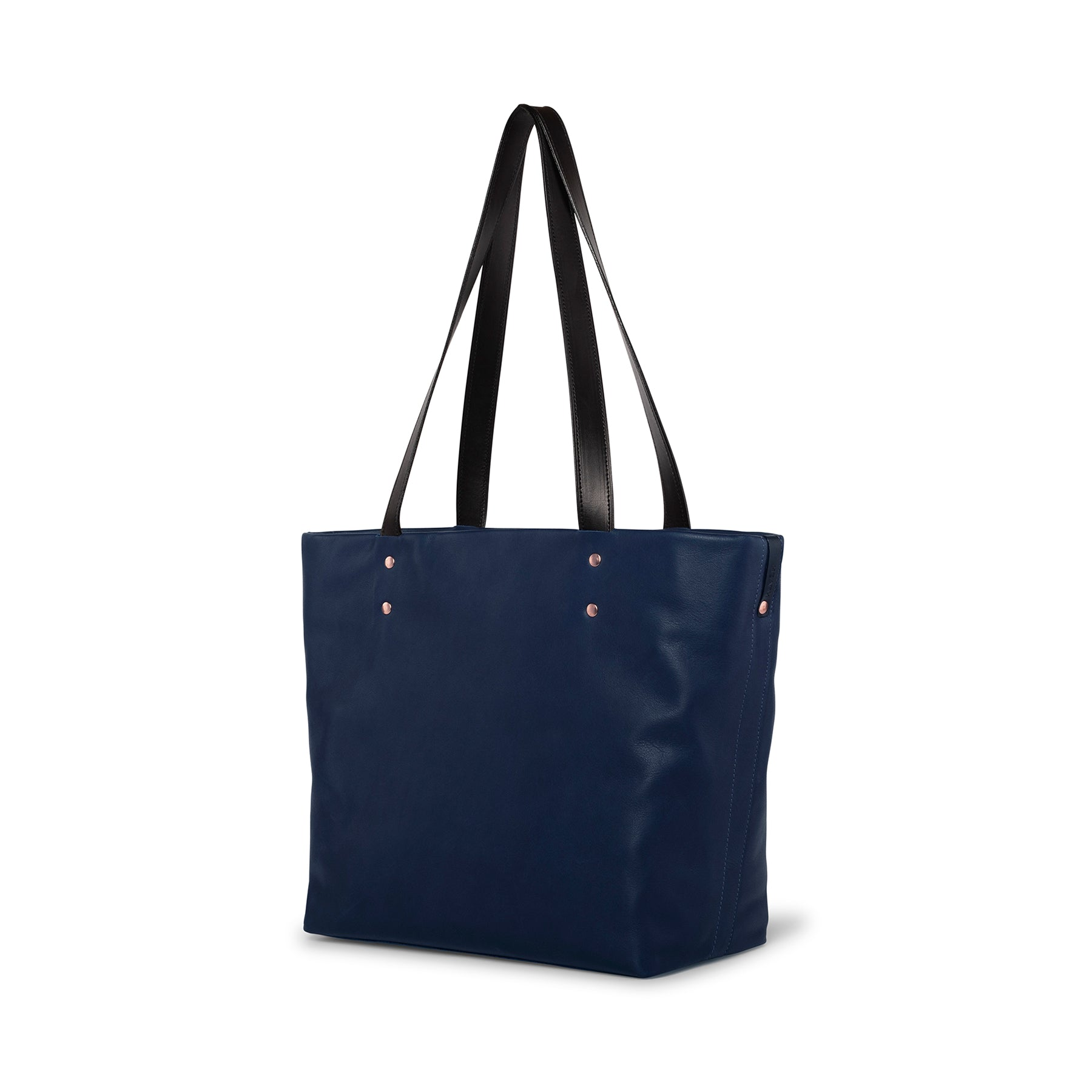 Leather Tote in Midnight Zoom Image 1