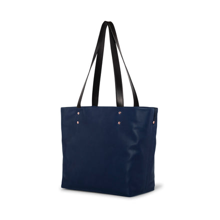 Leather Tote in Midnight