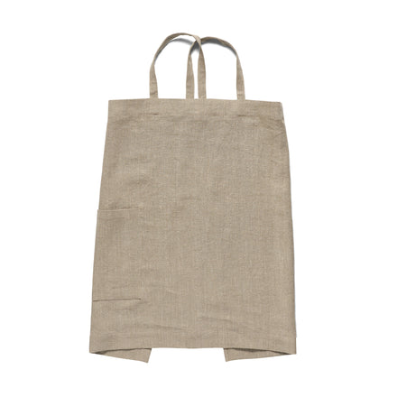 Linen Heavy Weight Apron in Natural