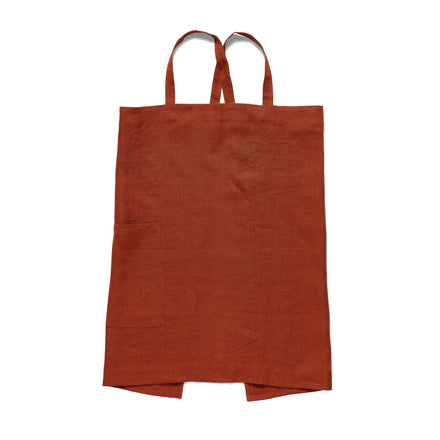 Linen Apron in Rust