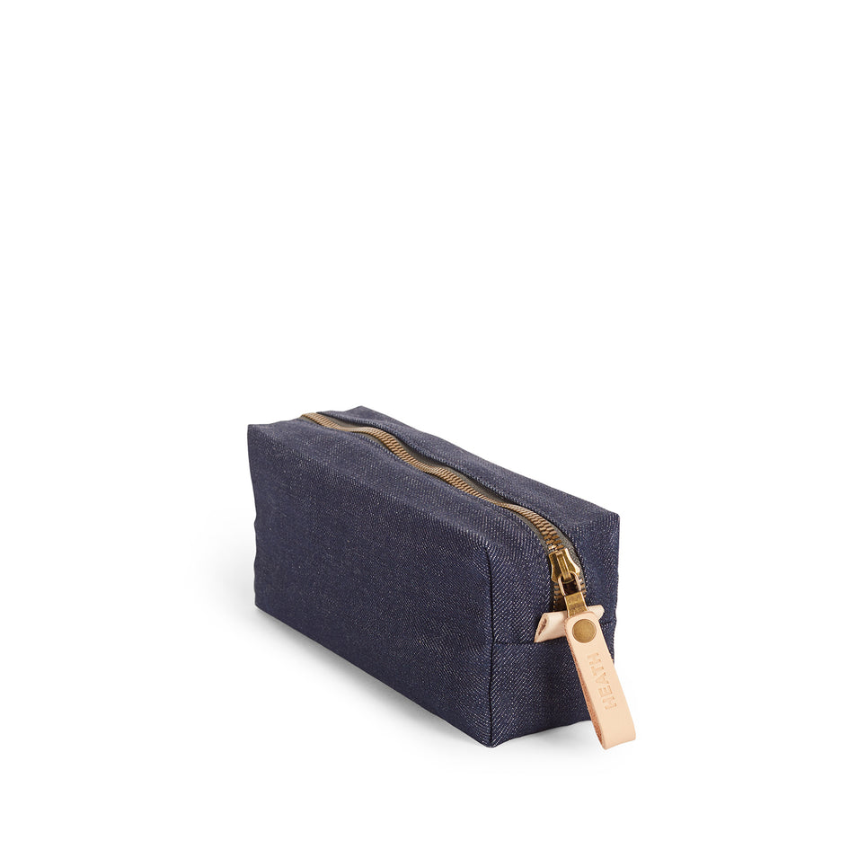 Long Block Pouch in Denim Image 1