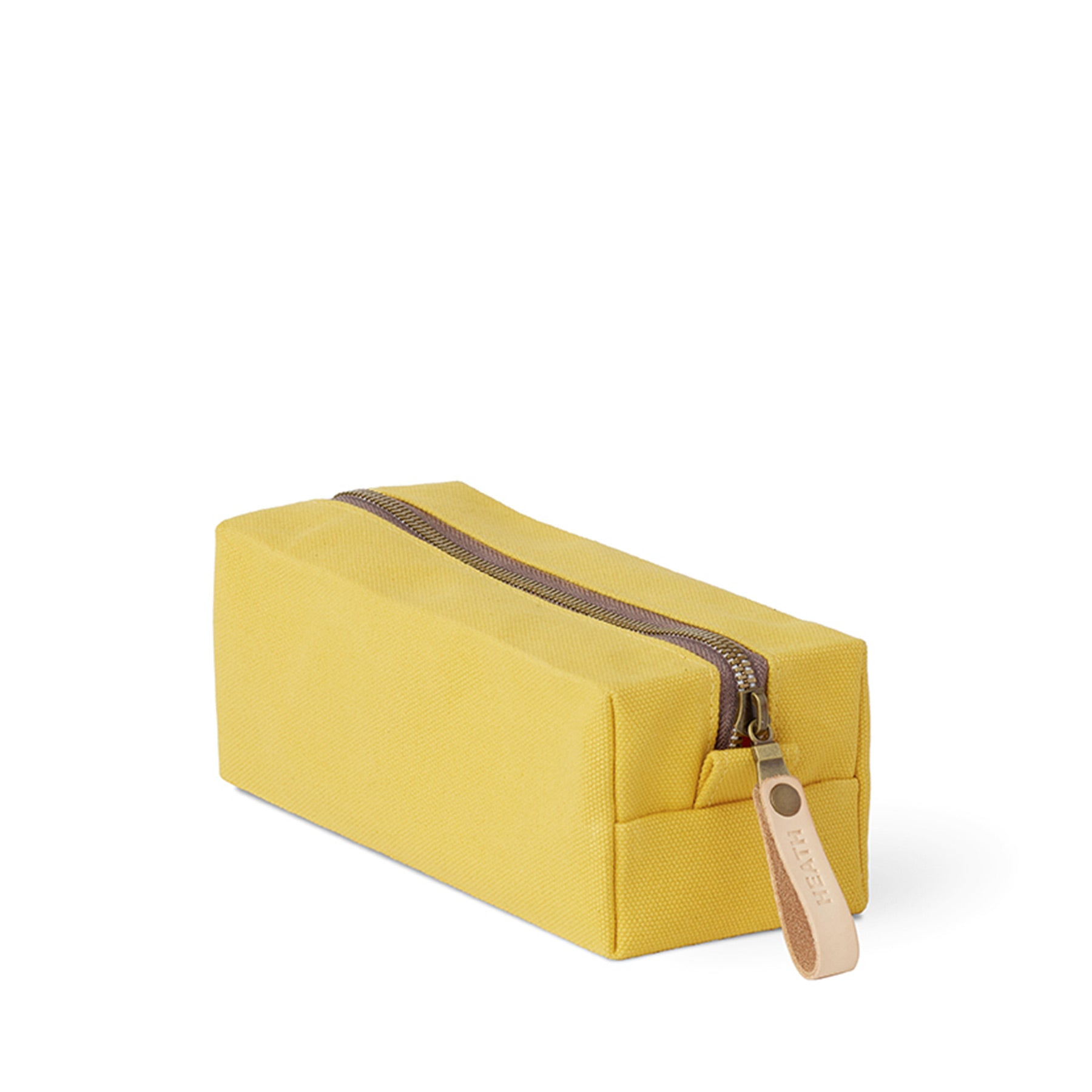 Long Block Pouch in Stone Gold Zoom Image 1