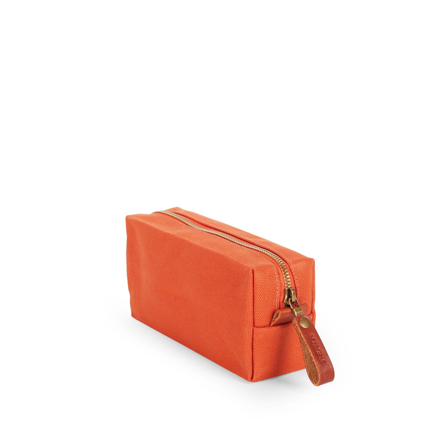 Long Block Pouch in Terracotta Zoom Image 1