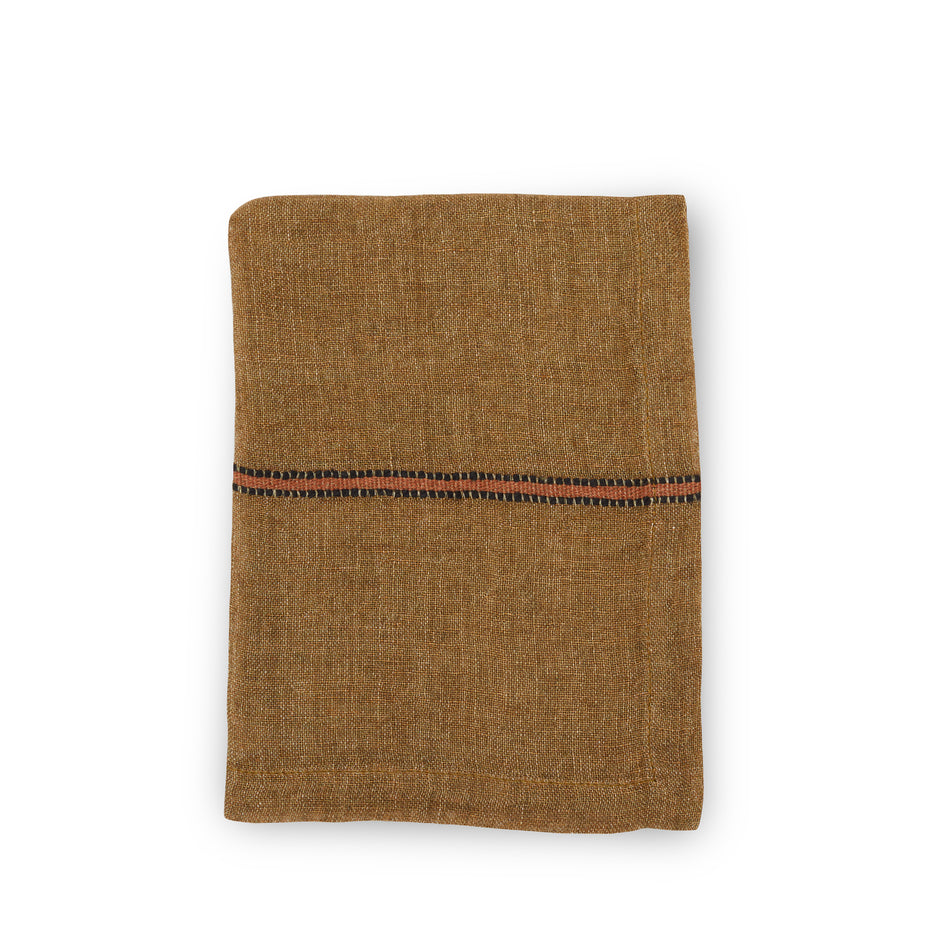Marie Napkin in Bronze Stripe Image 1