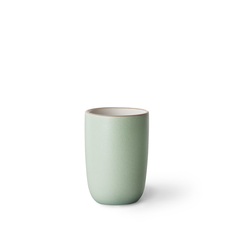 Tall Modern Cup in Sand/Penny Green Image 1