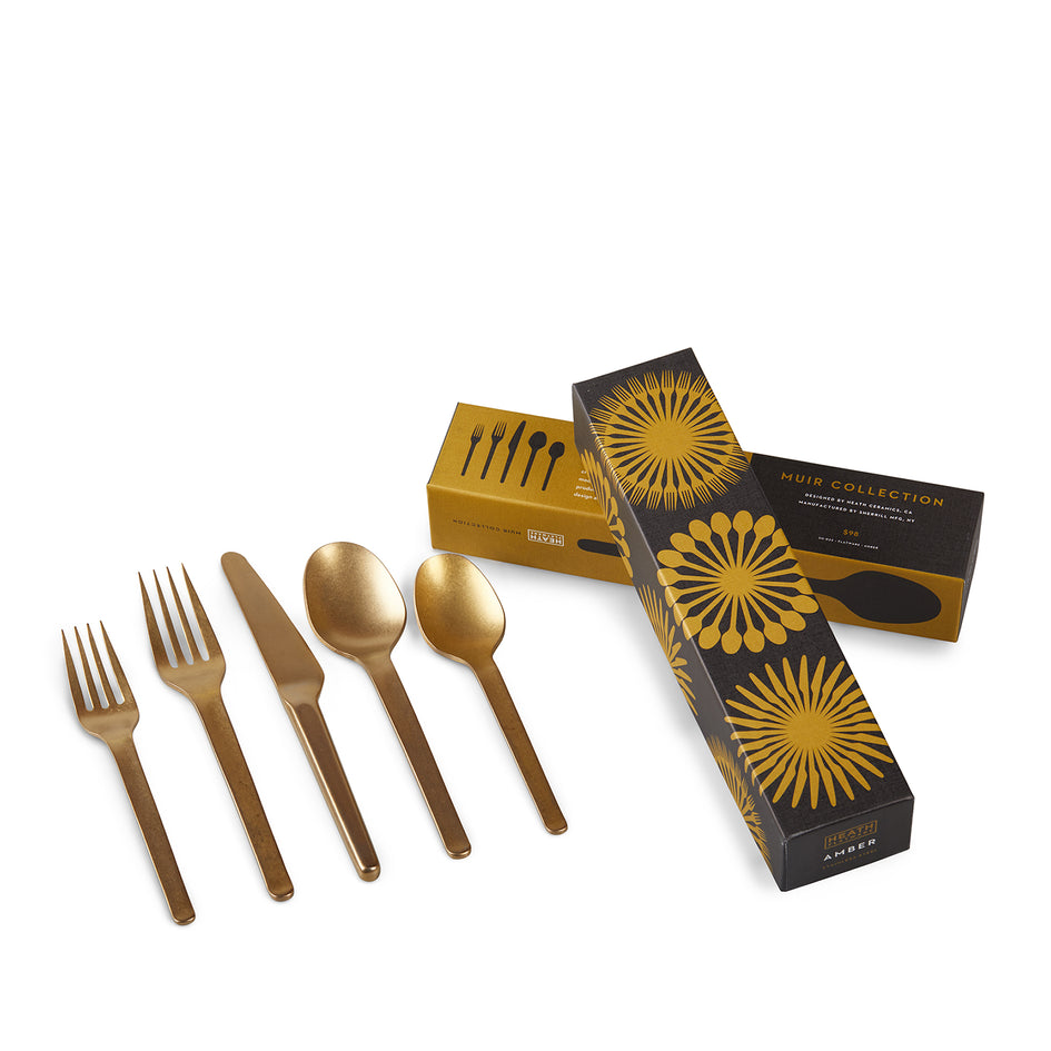 Muir Flatware in Amber (5 Piece Setting) Image 3